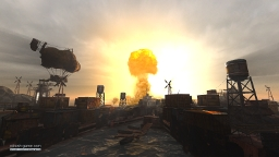 Explosion in the docks