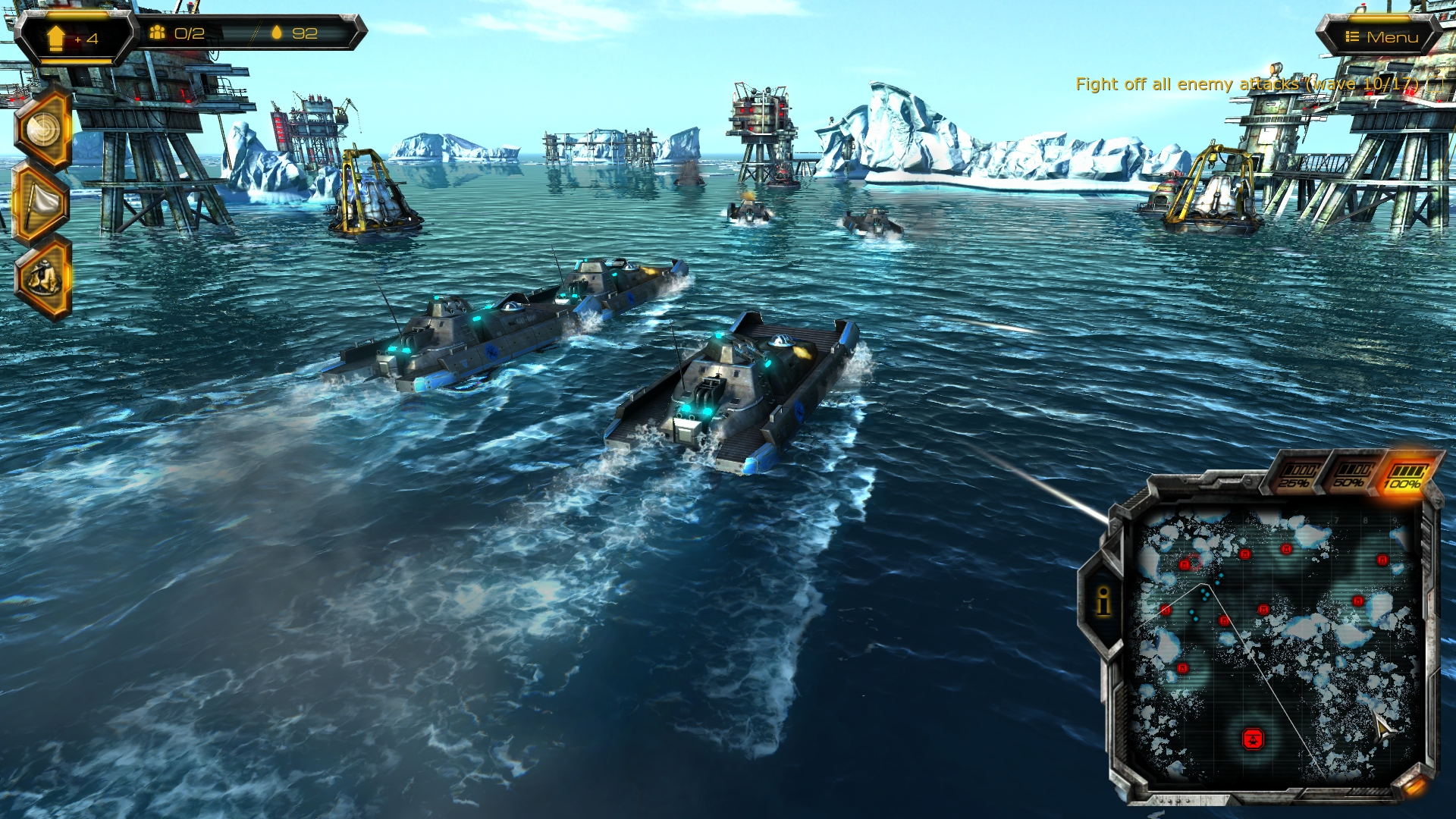 Oil Rush: naval strategy game for Windows, Linux, Mac OS X, Android